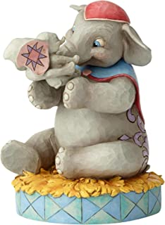 Enesco Disney Traditions by Jim Shore Mrs. Jumbo and Dumbo Mother's Unconditional Love Figurine, 7.36 Inch, Multicolor