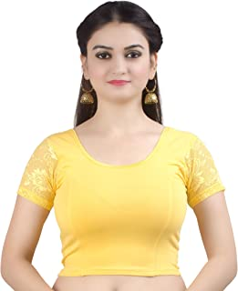 Women's Stretchable Readymade Indian Ethnic Saree Blouse Crop Top Choli (B102)