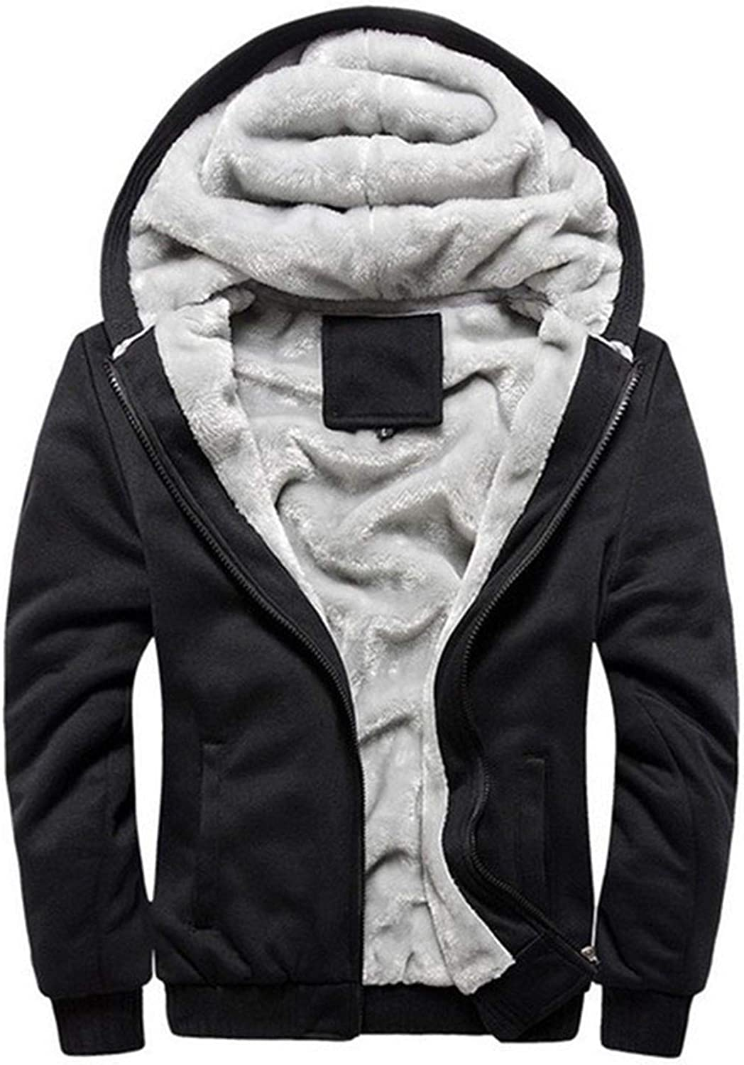 Don't mention the past Tracksuit Men Sporting Fleece Thick Hooded Casual Track Suit Men Jacket+Pant Warm Fur Inside Winter