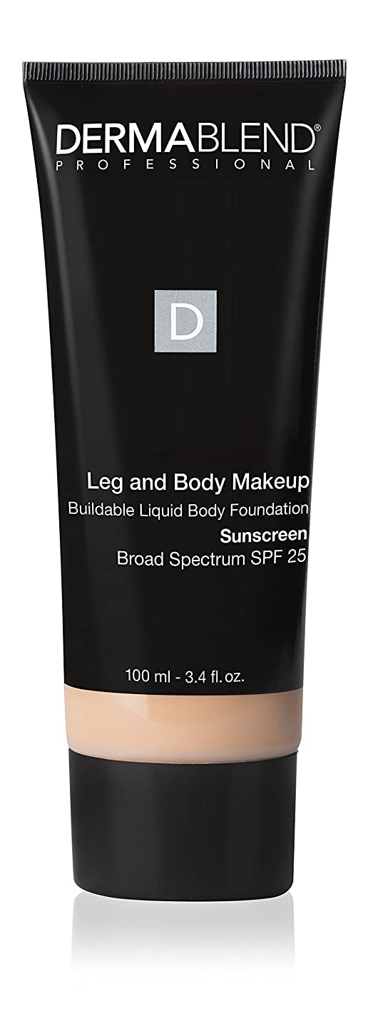 活気づけるインターネットミュージカルダーマブレンド Leg and Body Make Up Buildable Liquid Body Foundation Sunscreen Broad Spectrum SPF 25 - #Fair Nude 0N 100ml