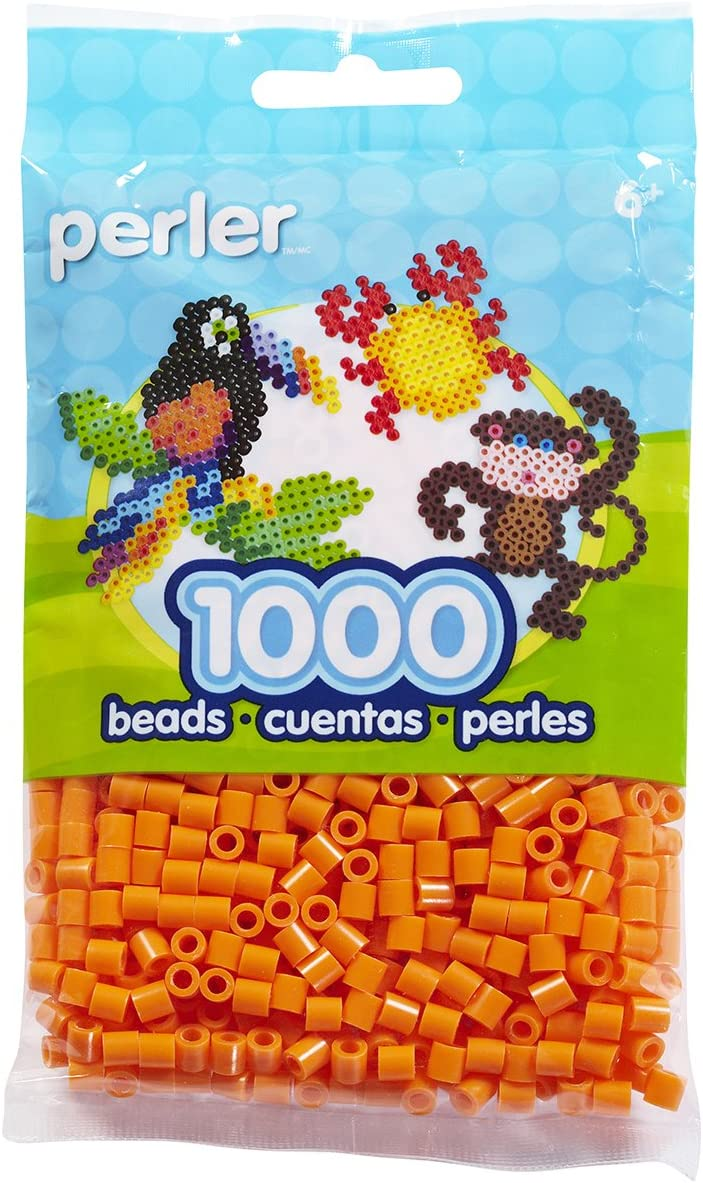 Perler Beads Popular product Fuse for Crafts Limited price sale Orange 1000pcs