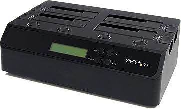 "StarTech.com 4 Bay USB 3.0/ eSATA Hard Drive Duplicator Dock for 2.5"" & 3.5"" SATA/ IDE SSD HDD - Standalone 1:3 Copier Doc..."