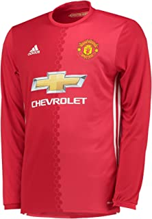 Adidas Manchester United FC Official 2016/17 Home LS Jersey - Adult - Red -