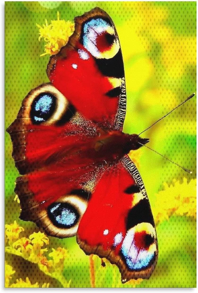 At the price of surprise WAWSN Abstract Art Butterflies and Colorful Butterflies2 Easy-to-use Flowers