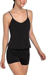 Chamllymers Women's Cami Shorts Sleeveless Short Sets Pj