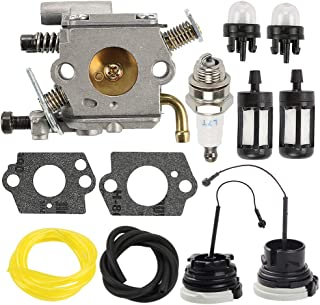Butom C1Q-S126B Carburetor Carb for Stihl MS200 MS200T 020T MS 200 MS 200T Chainsaw Replace 1129 120 0653 with Fuel Filter Line Cap