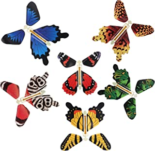 Magic Fairy Flying in The Book Butterfly Rubber Band Powered Wind Up Butterfly Toy Great Surprise Gift (6pc)