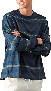 (バレッタ) Valletta メンズ ロングTシャツ 総柄 ビッグシルエット 長袖 ロンT ネイティブ エスニック [メンズ]
