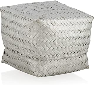 Boho Traders HU21 Seagrass Box, Silver