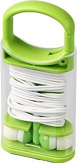 Bullet Snap Earphones/Buds With Plastic Carabiner Clip Case