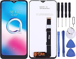 Zhoutao Ersättningsdelar för mobiltelefon LCD-skärm och digitaliserare, full montering för Alcatel 1V 2020 5007D 5007Y 5007U