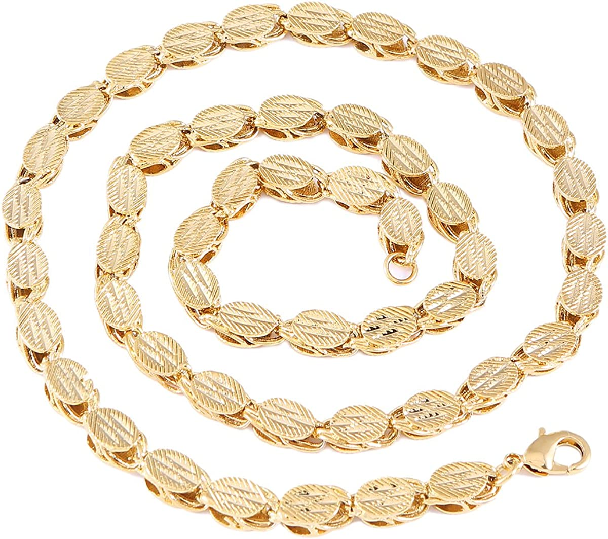 60cm 7mm Ethiopian Thick Necklaces Gold Color Africa Eritrea Chunky Chain Dubai Arab Jewelry