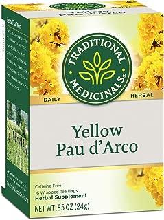 Traditional Medicinals Organic Yellow Pau D'Arco Herbal Tea, 16 Tea Bags (Pack of 6)