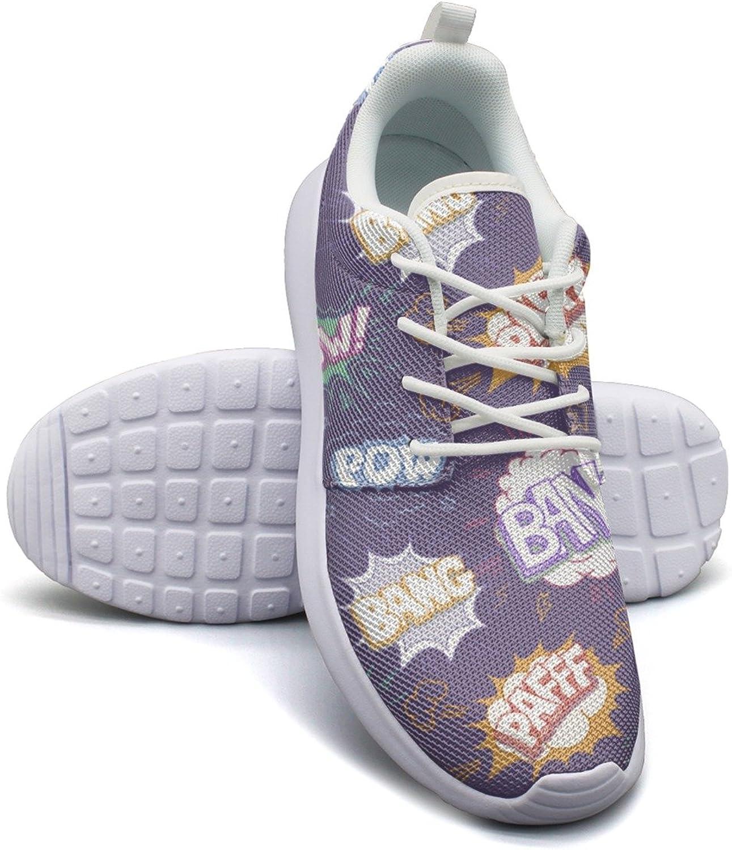 Comic Bomb Explosion Women's Lightweight Mesh Tennis Sneakers Popular Running shoes