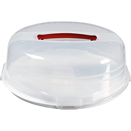 CURVER   Boite à gâteau ronde 35cm avec plateau réversible, Blanc, Other Kitchenware, 34,7x34,7x12,5 cm
