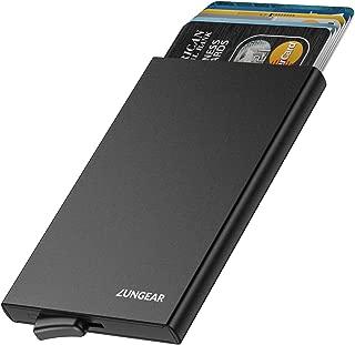 LUNGEAR RFID Credit Card Holder Slim Wallet Front Pocket Card Protector Pop up Design Aluminum Up to Hold 6 Cards