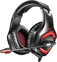 $25 » RUNMUS Gaming Headset PC Headset with 7.1 Surround Sound, Noise Canceling PS4 Headset with Mic & LED Light, Compatible wit...