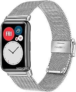 Watch Band Voor Huawei Horloge Fit/Honor Watch Es Horloge Roestvrijstalen Vrouwen Mannen Vervanging Bracelet Band Strap (C...