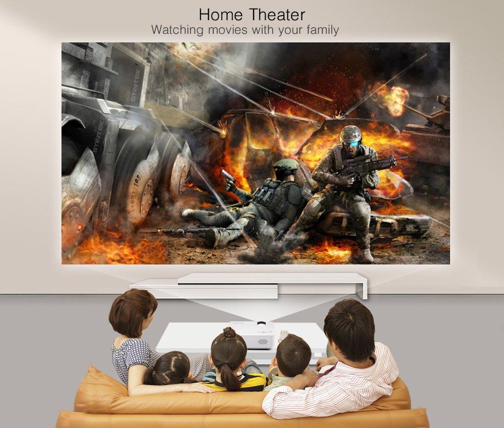 Marca byintek BT140 LED LCD HD vídeo portátil Mini proyector de ...
