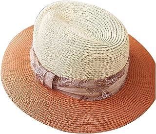 WN - Sombrero - Sombrero Femenino de Verano Visera para el Sol Sombrero de Paja Tejido Simple Sombrero para el Sol Protección contra los Rayos UV Sombrero Femenino (3 Colores) Sombrero para Mujer