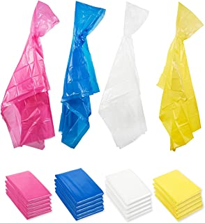 20-Pack Durable Disposable Rain Ponchos, Adults Emergency Waterproof Raincoat with Hood for Camping, Hiking, Sport or Outd...