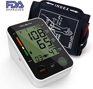 TEC.BEAN Automatic Upper-Arm Digital Blood Pressure Monitor with Heart Rate Detection and