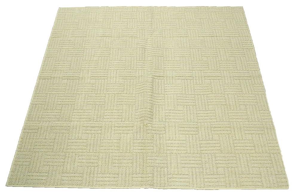 免疫増強どんよりしたArie(アーリエ) 折り畳みカーペット メディア 176x261cm(江戸間3帖) アイボリー