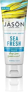 JASON Sea Fresh Strengthening Fluoride-Free Travel Size Toothpaste, 3 Ounce Tube