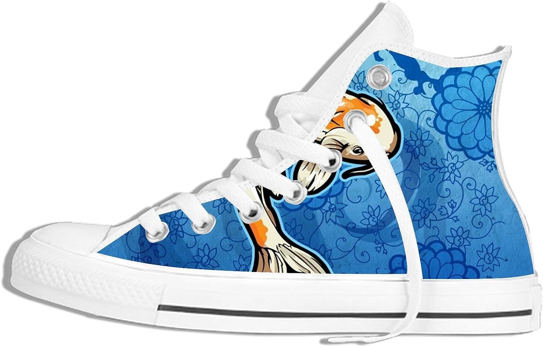 YDYOOD High duk duk duk Plimsoll Gym skor Trainers skor, Classic mode Sneeaker Fish svart  försäljningsförsäljning