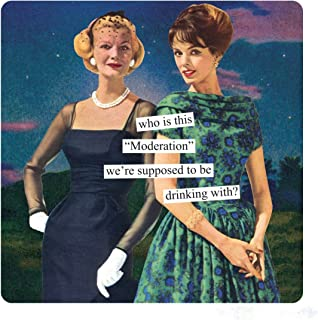 Anne Taintor Square Refrigerator Magnet - Who Is This