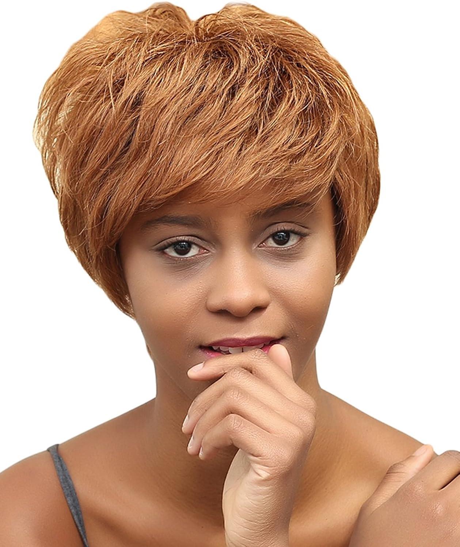 solo para ti EOZY Pelucas de Cabello Natural Corto para Mujer Mujer Mujer de Onda Longuitud 25cm Marrón Castaño  Mercancía de alta calidad y servicio conveniente y honesto.
