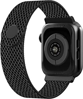 iGK Compatible with Apple Watch Band 38mm 40mm 42mm 44mm, Adjustable Stainless Steel Mesh Wristband Loop for iWatch Series 5 4 3 2 1