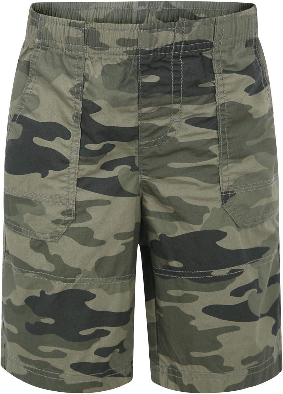 LOTMART Kids Camouflage /& Plain Shorts Boys Army Print Bottoms