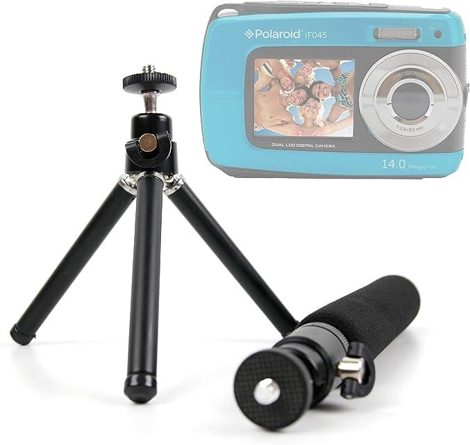 DURAGADGET Trípode De Mesa + Barra Telescópica Extensible para Cámara compacta Polaroid IF045 | Sony DSC-W810 | Fujifilm XP90 | Canon PowerShot SX620 HS
