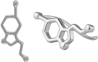 Serebra Jewelry Serotonin Molekül Ohrstecker Ohrring aus 92