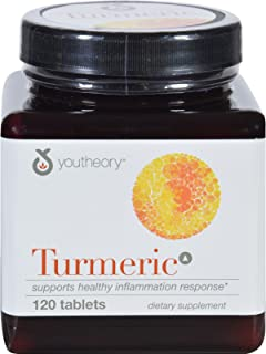 Youtheory Turmeric - Advanced Formula - ANI-Inflammatory Support - 120 Tablets