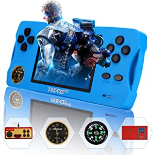 """JJFUN Retro Arcade Handheld Games Console for Boys Girls, Built-in 480Childhood Games 3.5"""" Screen AV-Out Video Game Player..."""