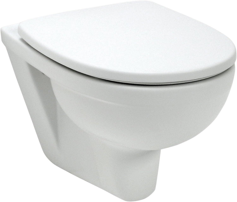 Wand-WC-Set Lucanto , Wei , Inklusive WC-Sitz , Tiefspüler