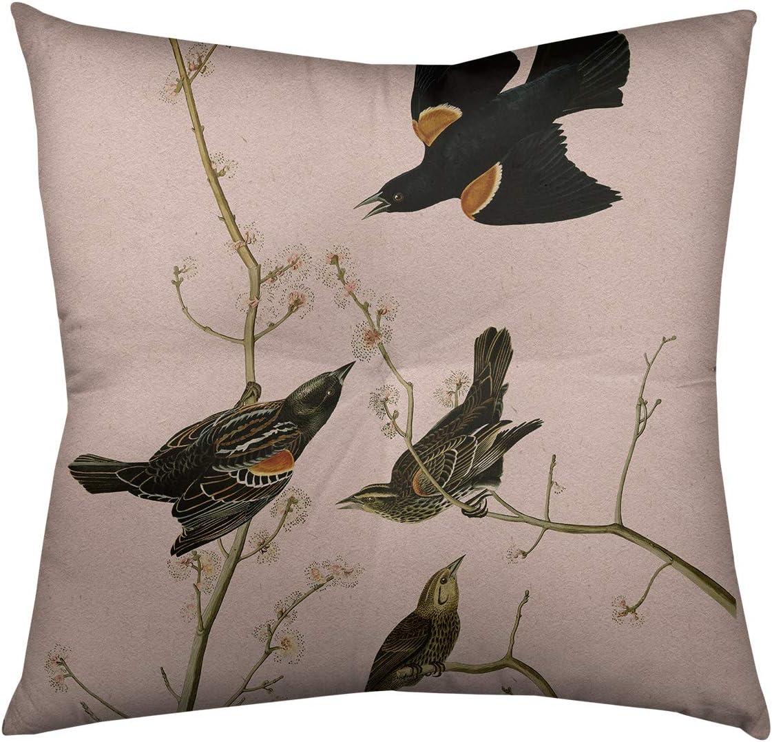 ArtVerse John James Special sale item Audubon Red-Winged in Ranking TOP7 Floor Pi Starling Pink