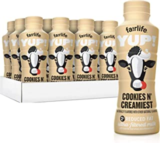 fairlife YUP! 2% Reduced Fat Ultra-Filtered Milk 14 fl oz (Cookies & Creamiest, Pack of 24)