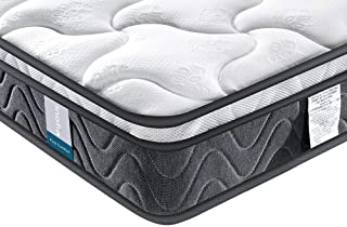 Double Mattress, Inofia Super Comfort Hybrid Innerspring Queen Mattress Set with 3D Knitted Dual-Layered Breathable Cover