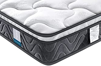 Single Mattress, Inofia Super Comfort Hybrid Innerspring Twin Mattress Set with 3D Knitted Dual-Layered Breathable Cover, ...