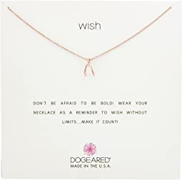 Dogeared - Wish, Teeny Wishbone Necklace