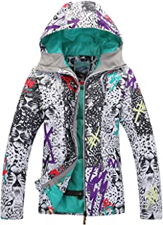 APTRO Women's Ski Jacket Waterproof Fashion Snowboard Coat Windproof Mountain Rain Jacket