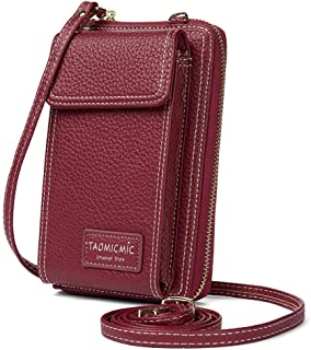 PALAY® Small Crossbody Bag Cell Phone Purse Wallet for Women PU Leather Handbags