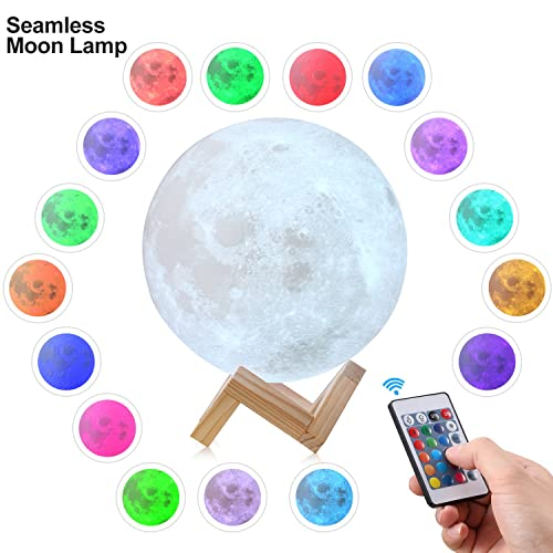 CPLA Upgraded Version Seamless 3D Lamp led Night Stepless Dimmable Remote & Touch Control Moon Light