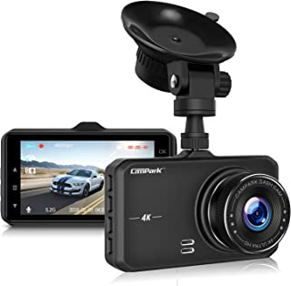 Campark Dash Cam 4K UHD DVR Driving Recorder Camera for Cars Dashboard with 3 LCD 170°Wide Angle Night Vision G-Sensor Parking Monitor WDR Motion Detection