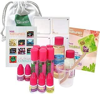 Kiss Naturals Lava Lip Gloss - DIY Kids Craft Kit - 100% Natural and Organic DIY Lava Lip Gloss Kit for Kids
