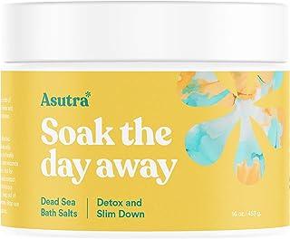 ASUTRA Dead Sea Bath Salts (Detox & Slim Down), 16 oz | Cleanse, Purify & Fight Cellulite | Soak in Rich & Vital Healing M...