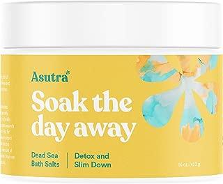 ASUTRA Dead Sea Bath Salts (Detox & Slim Down), 16 oz | Cleanse, Purify & Fight Cellulite | Soak in Rich & Vital Healing Minerals | All Natural & Organic Eucalyptus, Tea Tree & Lemon Essential Oils